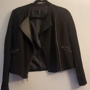 Apt. 9 Polyester Petite Crop Moto Jacket
